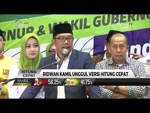 Quick Count Litbang Kompas: Ridwan Kamil Unggul di Pilkada Jawa Barat