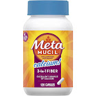 Metamucil MultiHealth Daily Fiber Supplement + Calcium, Capsules - 120 count