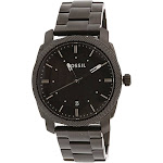 Fossil Men's FS4775 Machine Black Stainless Steel Watch
