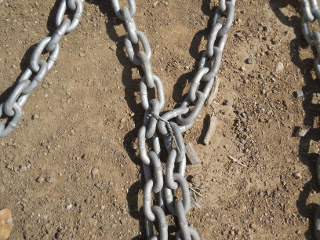 Chain Wired Together to Make Dragging Fingers