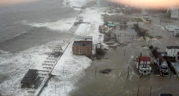 Superstorm Sandy devastates the East Coast leaving Atlantic City underwater and 16 people dead - Live Stream
