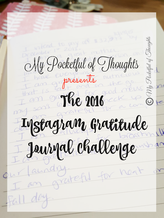 The Gratitude Journal Challenge - My Pocketful of Thoughts