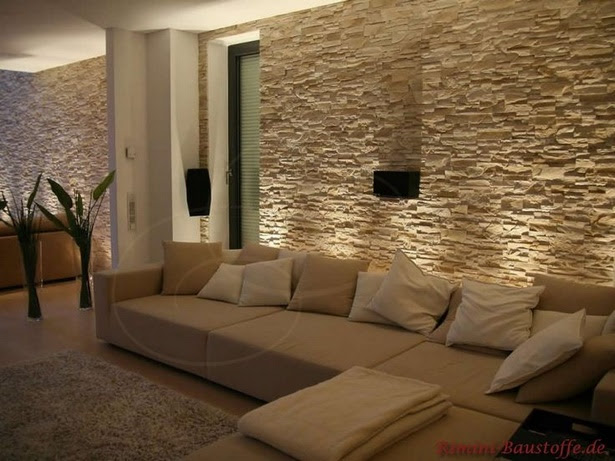 Steine wanddeko wohnzimmer