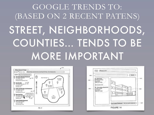 Recent Google patents about local SEO and SEM