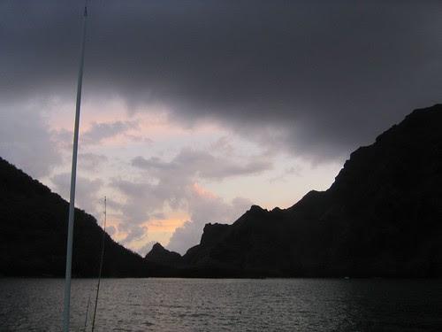 Taioa Bay sunset