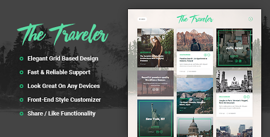 Download The Traveler - Responsive WordPress Blog Theme nulled | OXO-NULLED