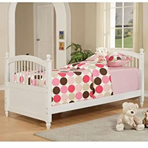 Amazon.com - Girls White Twin Bed by Powell Furniture ...