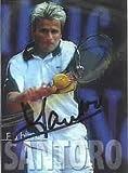 Fabrice Santoro autographed 2000 ATP tennis card