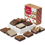 Christmas Nut-Free Dozen Gourmet Chocolate Gift Box by Fairytale Brownies