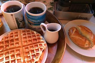 Blue Bottle Cofee - Bella Donovan waffle bagel