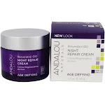 Andalou Naturals Age Defying Night Repair Facial Cream with Resveratrol Q10 1.7 oz.