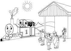 Drawing Thomas And Friends Coloring Page