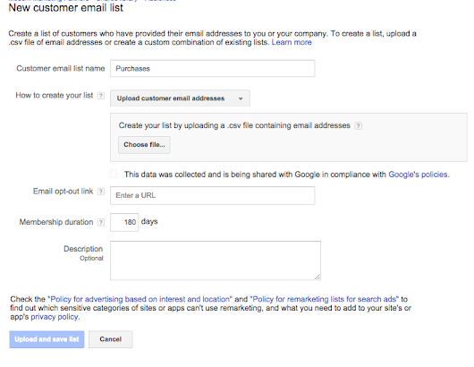 Google AdWords Customer Match Targeting