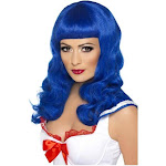 Smiffys California Girl Adult Costume Wig - Blue