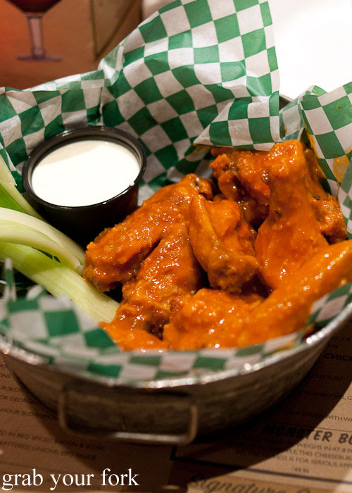 spicy buffalo wings at Jake Melnick's Chicago Illinois