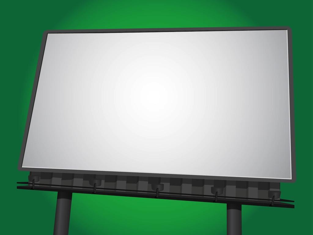 Blank billboard PSD template   free psd   UI Download