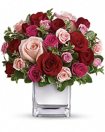 Teleflora S Love Medley Bouquet With Red Roses In Lansing Il Lansing Floral Greenhouse