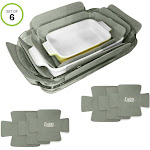 Evelots Bakeware Pan/Dish Scratch Protector-Large Sizes-Thick Polyester-Set/6