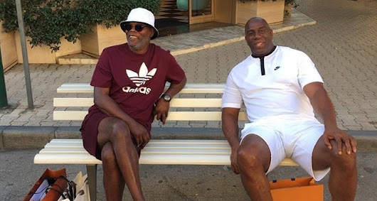 Actor Samuel L. Jackson, ex-NBA star Magic Johnson mistaken for migrants in Italy