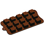 Fat Daddio's Silicone Chocolate Mold: Tiered Square, 15 Cavities | Bakedeco
