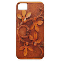 vintage carved wood iphone 5 case