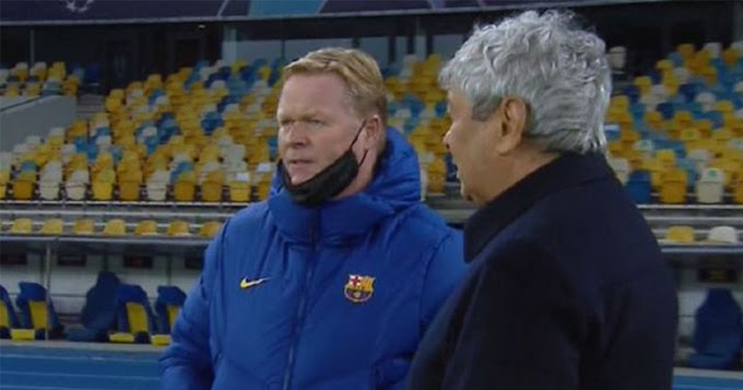 What Barca boss Koeman reportedly told Dynamo Kyiv boss Lucescu ahead of the game revealed.