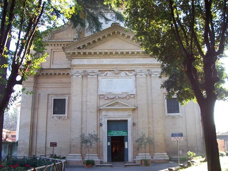 Igreja de São Paulo, lugar do Martírio do apóstolo dos gentios - Roma