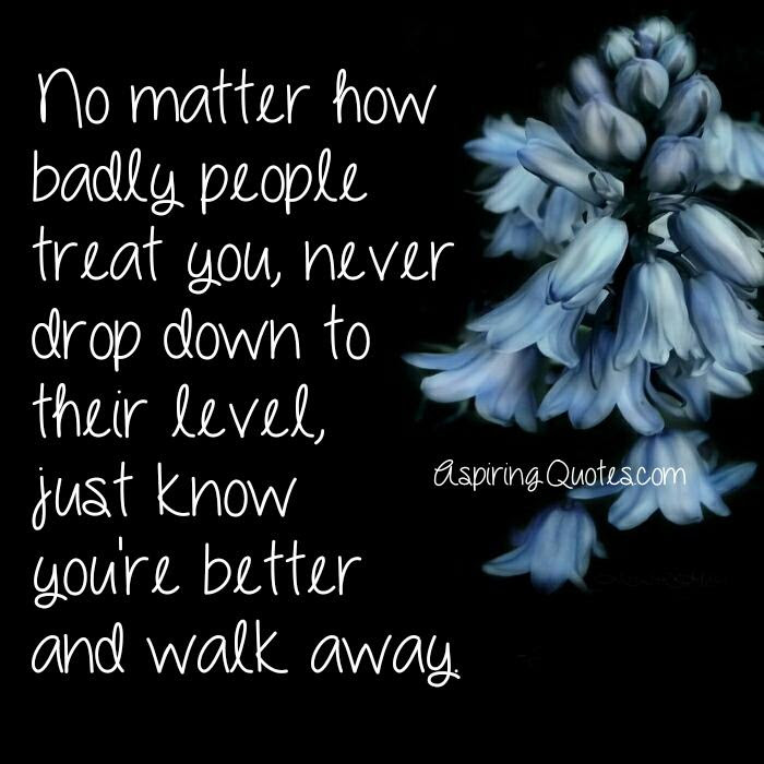 No Matter How Badly People Treat You Aspiring Quotes