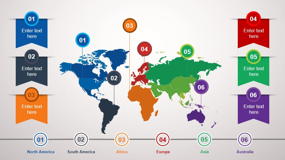 World Map & Globes PowerPoint Templates