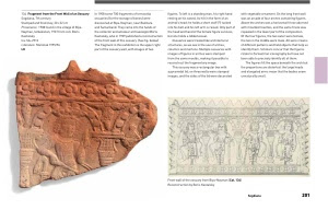 Hermitage Catalogue featuring fragment of the Front Wall of an Ossuary, Sogdiana 7th Century AD