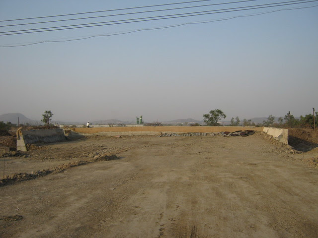 Construction of the bridge on the canal - Life Republic - Hinjewadi Marunji - on 22nd February 2012 - World Thinking Day