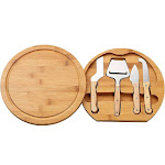 """Cheese Board Set - Charcuterie Board And Cheese Tools, Cheese And Meat Board, Includes 1 Bamboo Cutting Board And 5 Piece Knife Tools, 10.2"""" X 10.2"""" X"""