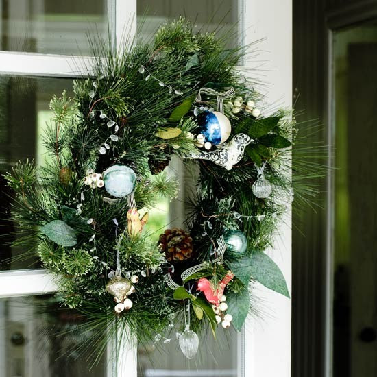 Hang a wreath | Country Christmas decorating ideas - our pick of ...