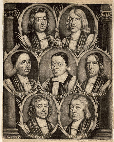File:The Seven Bishops Committed to the Tower in 1688 from NPG (2).jpg