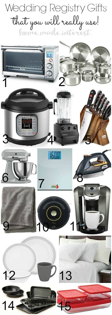 A wedding registry list with ideas and tips for every