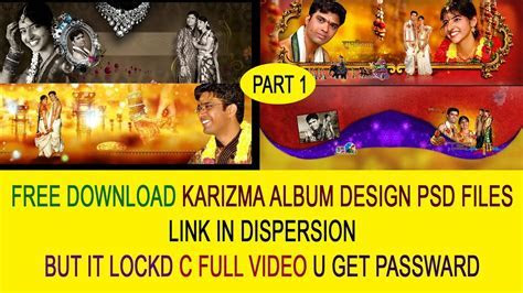 FREE download wedding Karizma Canvera Album PSD LINK IN