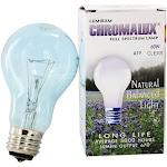 Lumiram Chromalux A19 60W Clear Light Bulb Full Spectrum Lamp