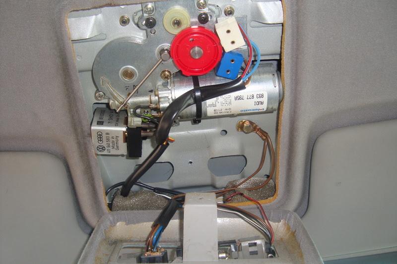 Schaltplan Schiebedach Audi 80 B4