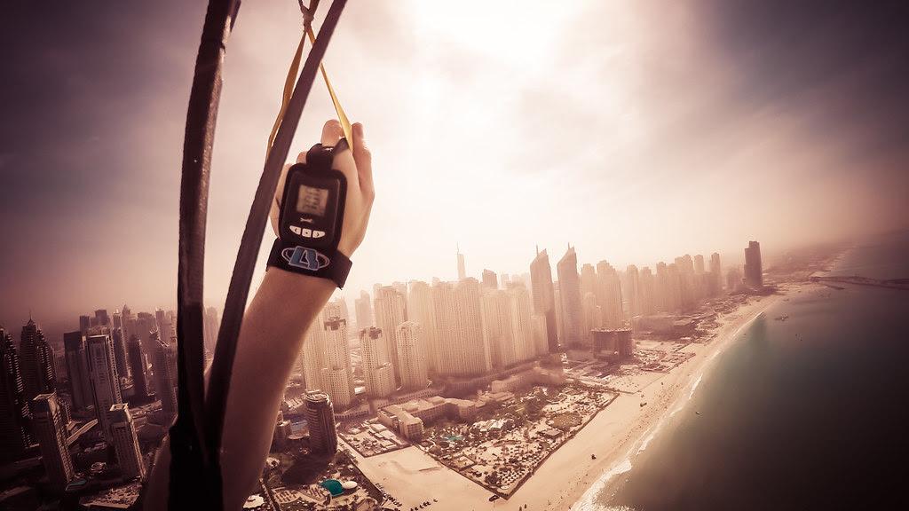 Parachuting into Dubai