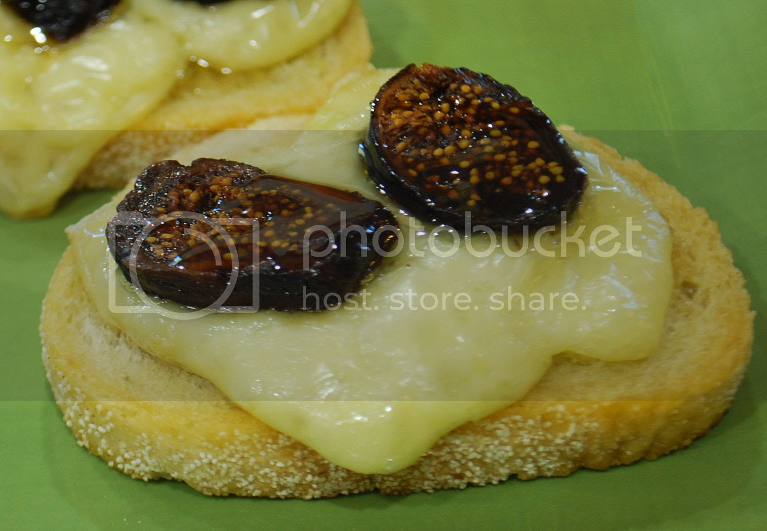 Brie, Fig & Truffle Honey Crostini