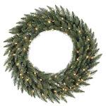 Vickerman A861037 36 Camdon Wreath 230T 100CL Indoor-Outdoor