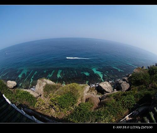 E300 8mm 觀景台上眺望珊瑚礁岩