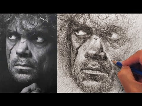 How to Draw and Shade Realistically - Drawing Tyrion Lannister