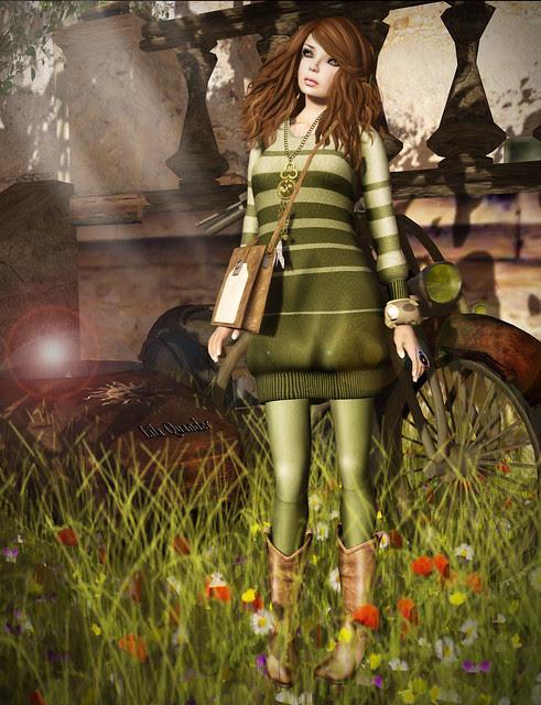 *BOOM* Oslo Baggy Sweater Dress-Moss