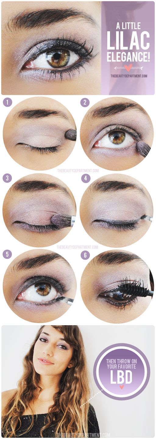 Pretty lilac party eye tutorial