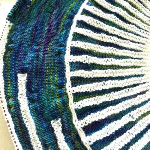Progress on Clue 2! #westknits #knitting