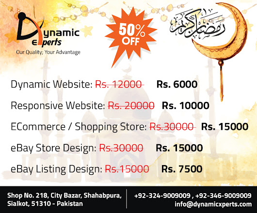 Celebrate this Ramadan with our special offers!!! | Dynamic Experts Solution