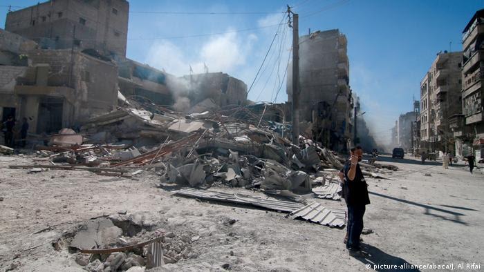 Syrien Bürgerkrieg Zerstörung in Aleppo