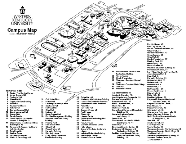 Wku Campus Map Western Ky University Campus Map | States Maps