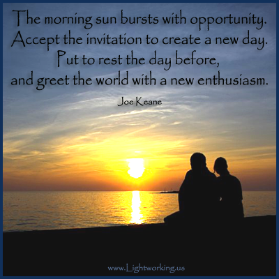 The Morning Sun Bursts With Opportunityaccept The Invitation To